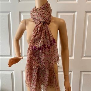 LOUIS VUITTON PINK LEOPARD STEPHEN SPROUSE SCARF